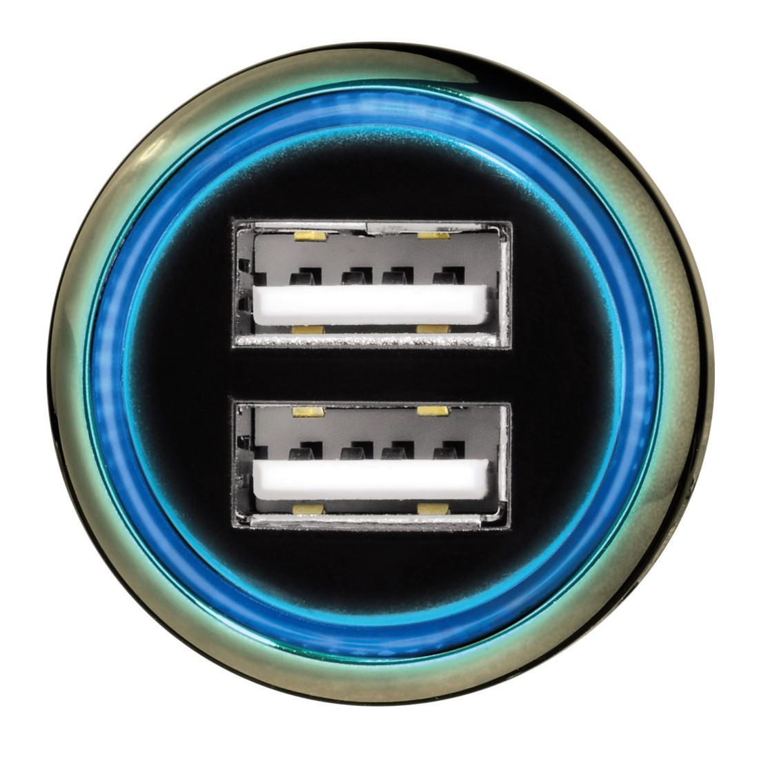 """Зарядно за кола HAMA """"Dual"""", 12V/ 2хUSB-5V/3100mA"""