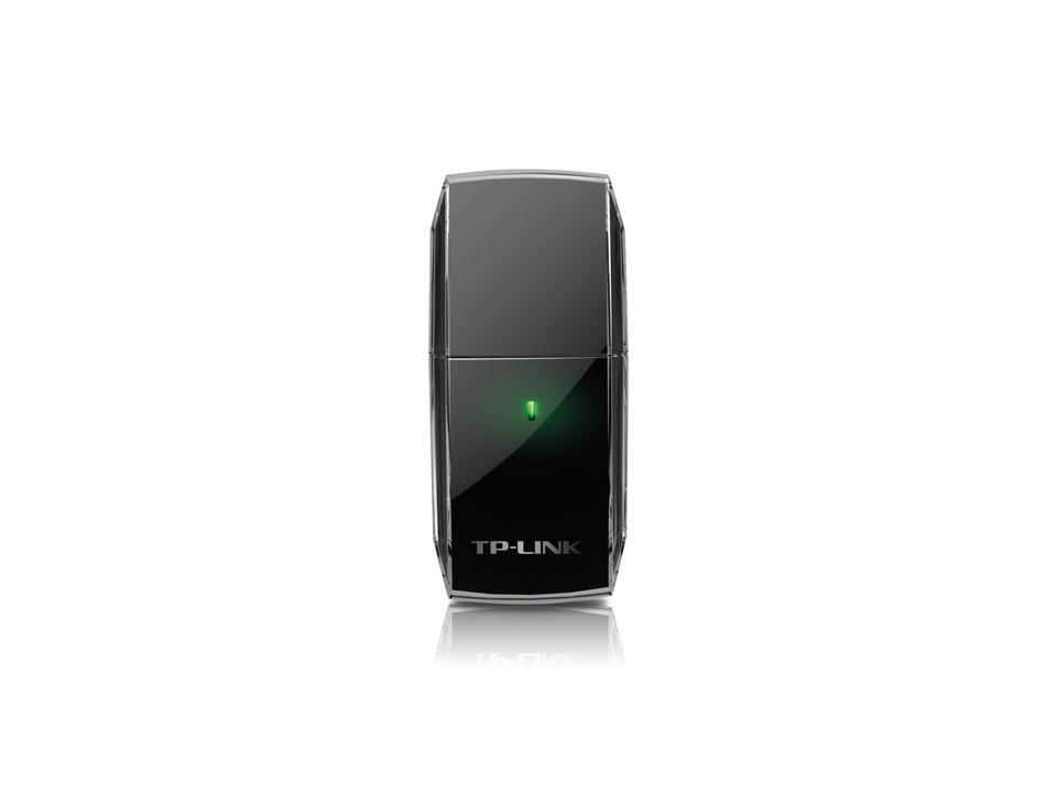Безжичен адаптер TP-LINK Archer T2U, AC600, Dual band, USB, вградена антена