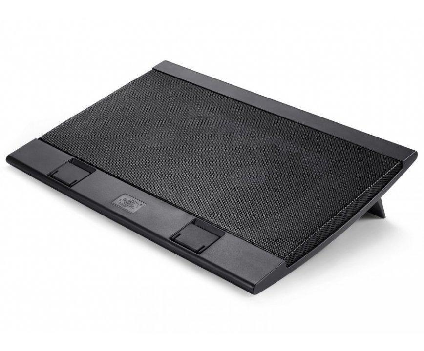 """Охладител за лаптоп DeepCool WIND PAL FS, 17"""", 2x140 mm, 1200 RPM, Черен"""
