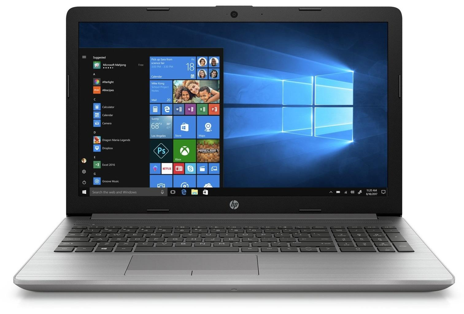 "Лаптоп HP ProBook 250 G7, Intel Core i5-8265U, 8GB DDR4, 1TB HDD, FHD 15.6"", DVD-RW, Сребрист"