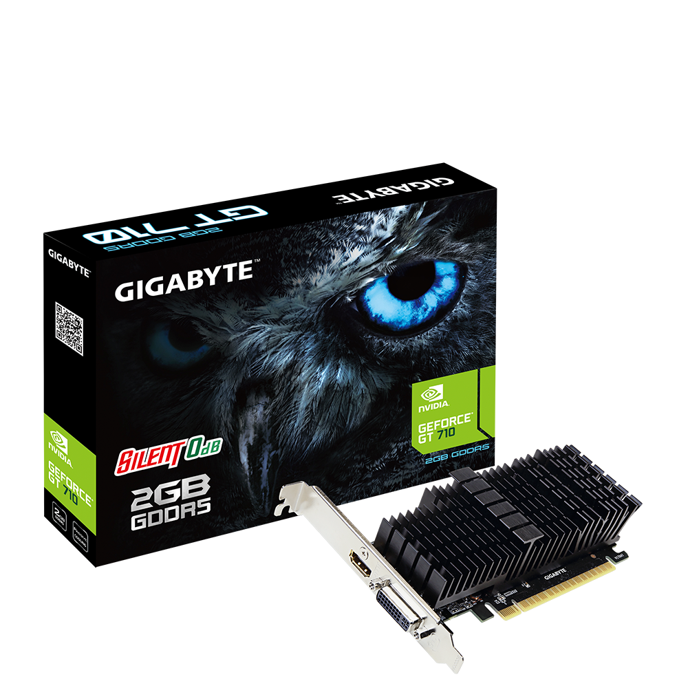 Видео карта Gigabyte GeForce GT 710 2GB GDDR5 64 bit, Low Profile, Silent