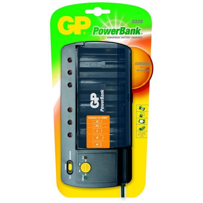 Зарядно у-во GP,  Universal Charger R6,03,14,20,22 PB320GS