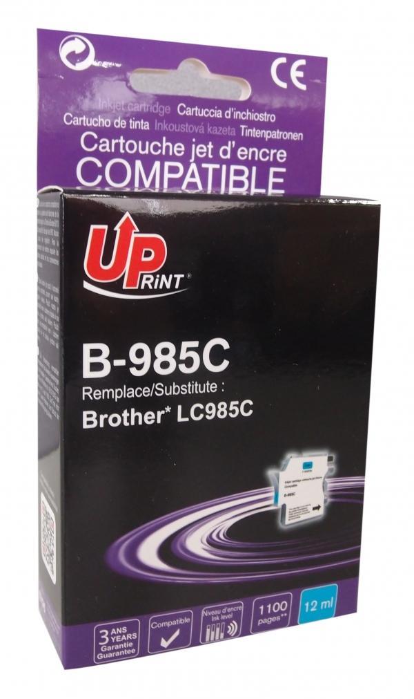 Мастилница UPRINT LC985, BROTHER, Cyan