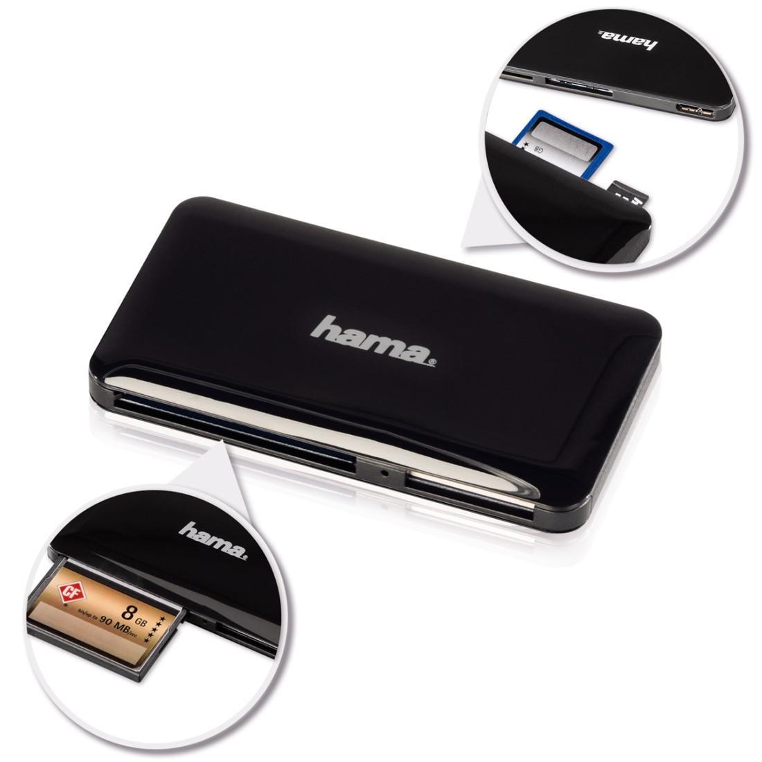 Четец за карти HAMA 114837 Slim, USB 3.0, SD/microSD/CF/MS