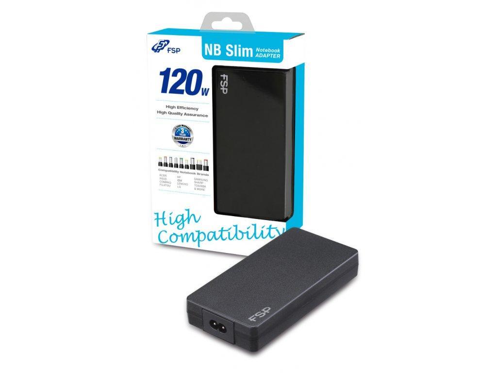 Универсално захранване за лаптоп FORTRON AC NB 90 SEMI-SLIM, 90W - 19V, 4.74A