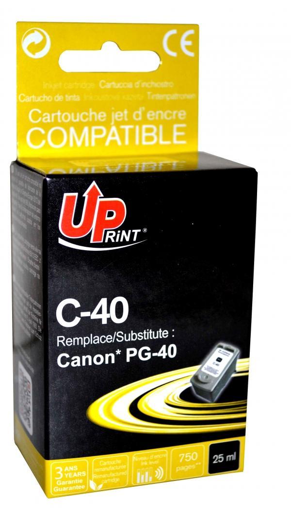 Мастилница UPRINT PG-40XL CANON, Черен