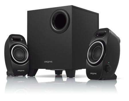 Озвучителна система Creative INSPIRE A250, 2.1, 2x2W+5W, Черен