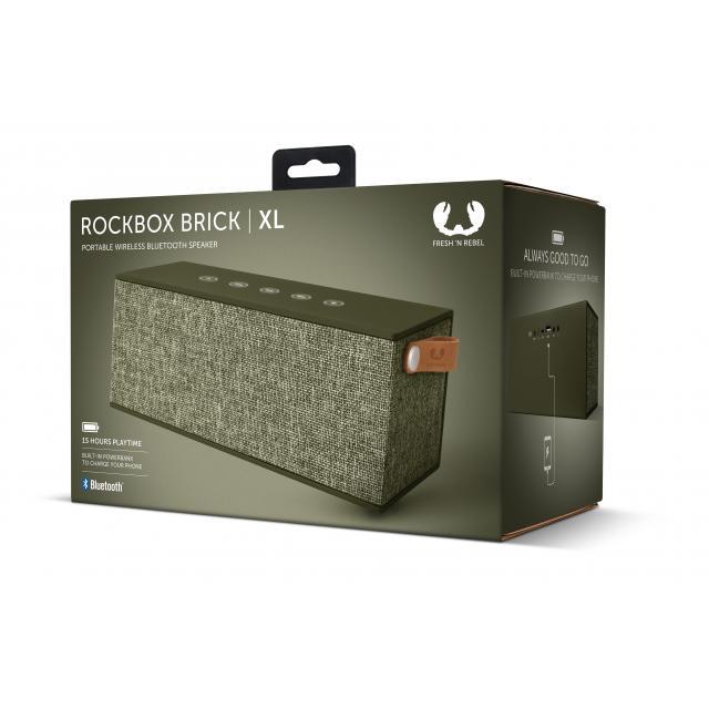 Тонколонка за мобилни устройства Fresh & Rebel Rockbox Brick XL Fabriq Edition, Army, Зелен
