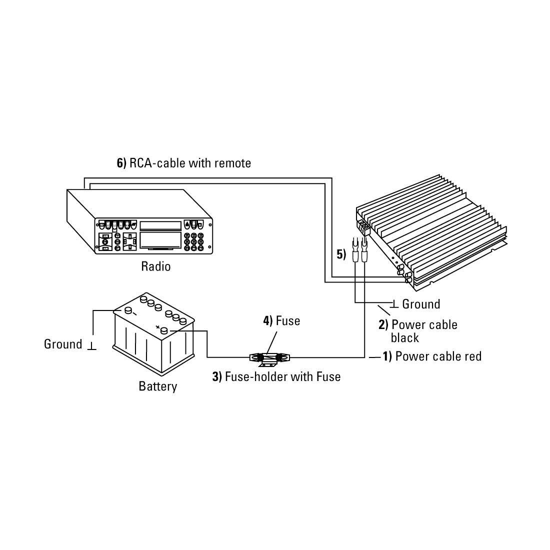 Кит за кола HAMA AMP-KIT 10, 10 mm²