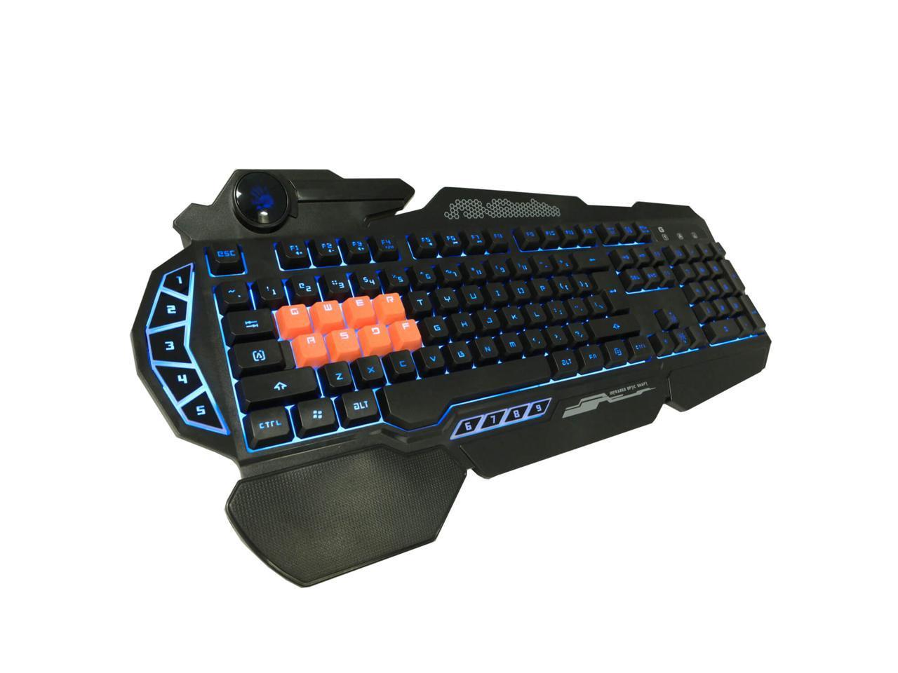 Геймърска клавиатура Bloody B318 Light strike, 8-Infrared Swich, USB, кирилизирана