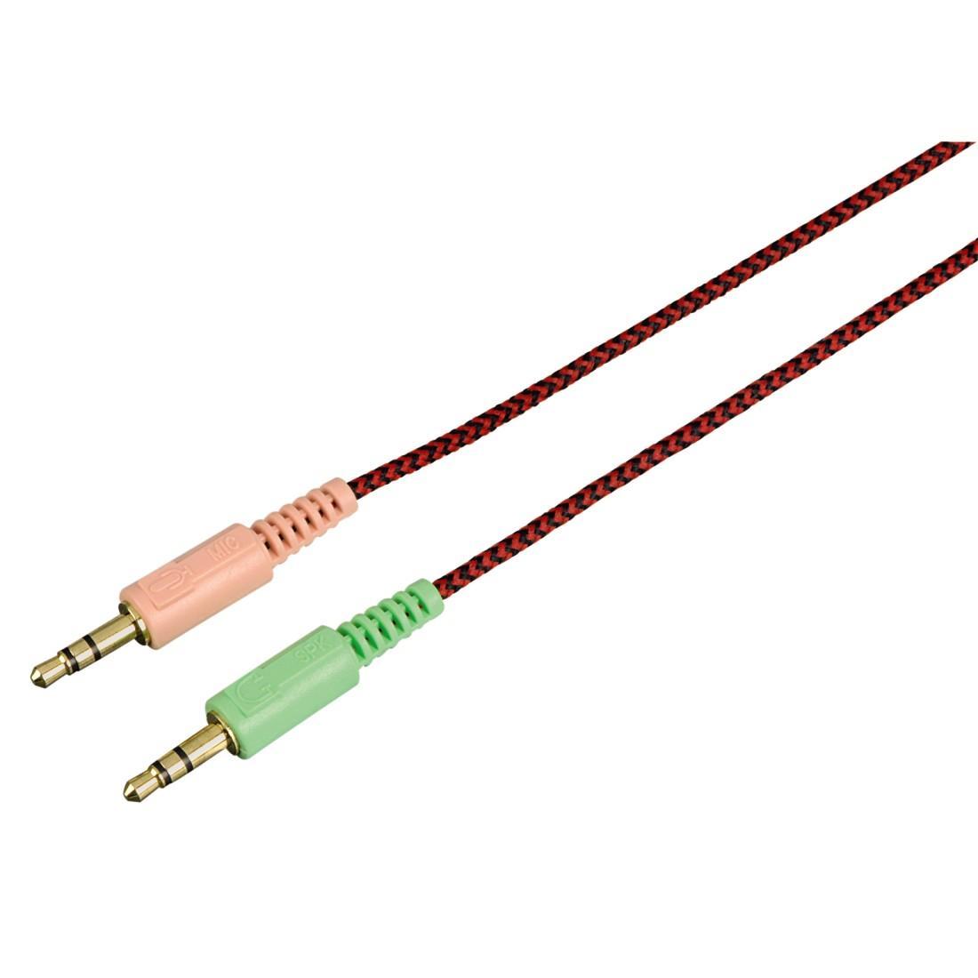 Геймърски слушалки Hama, Fire Starter, Микрофон, Черно/Червено