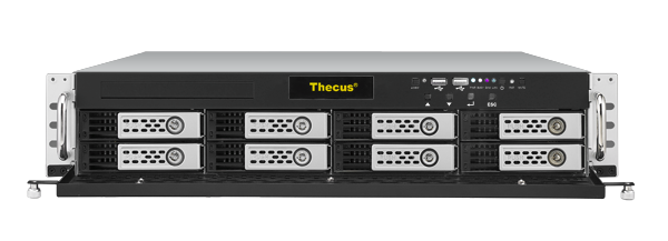 Мрежов сторидж Thecus 2U rack mount NAS N8900 8 диска до 80TB, Intel Core i3 2120 3.3Ghz, 8GB DDR3 ECC, USB2.0, USB 3.0, HDMI