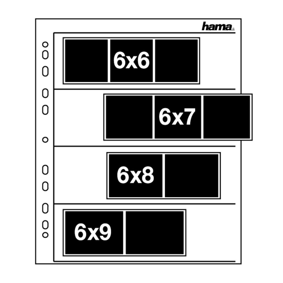 Пликове за негативи HAMA 02259, 6 x 7 cm, 100 стр.