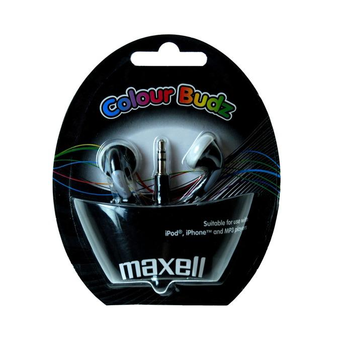 Слушалки  MAXELL color BUDS , In-Ear, Черен