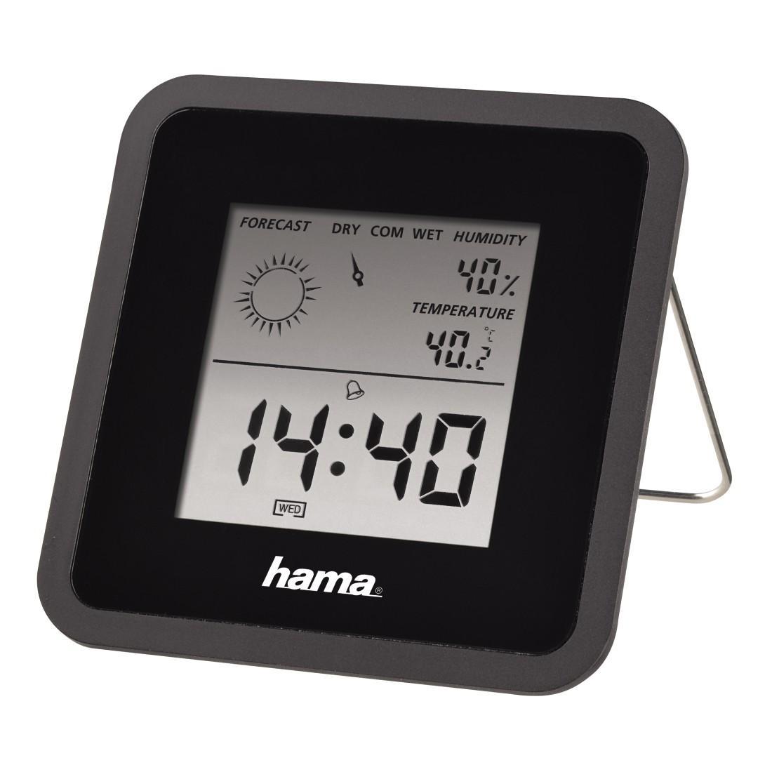 Цифров термометър/хигрометър HAMA TH-50 113987, Черен