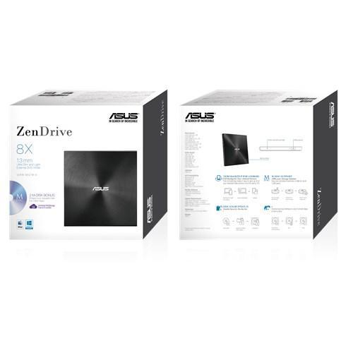 Външно USB DVD записващо устройство ASUS ZenDrive U7M Ultra-slim, USB 2.0, черен