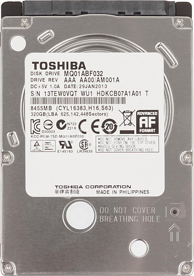Хард диск за лаптоп TOSHIBA, 320 GB, 5400rpm, 8MB, SATA, MQ01ABD032