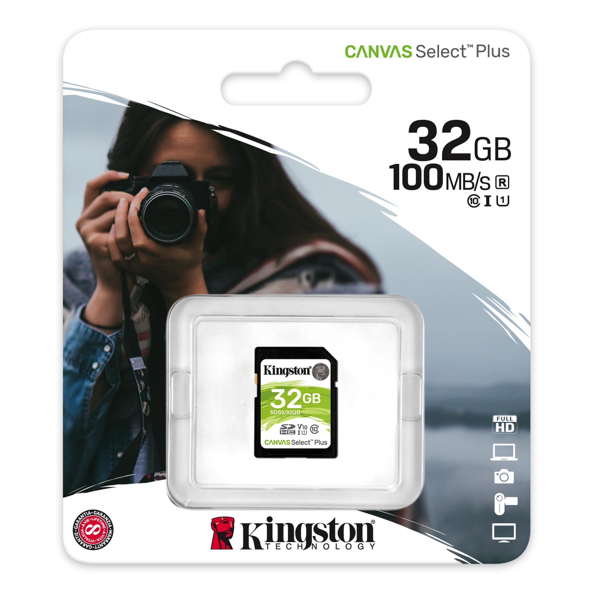 Карта памет Kingston Canvas Select Plus SD 32GB, Class 10 UHS-I