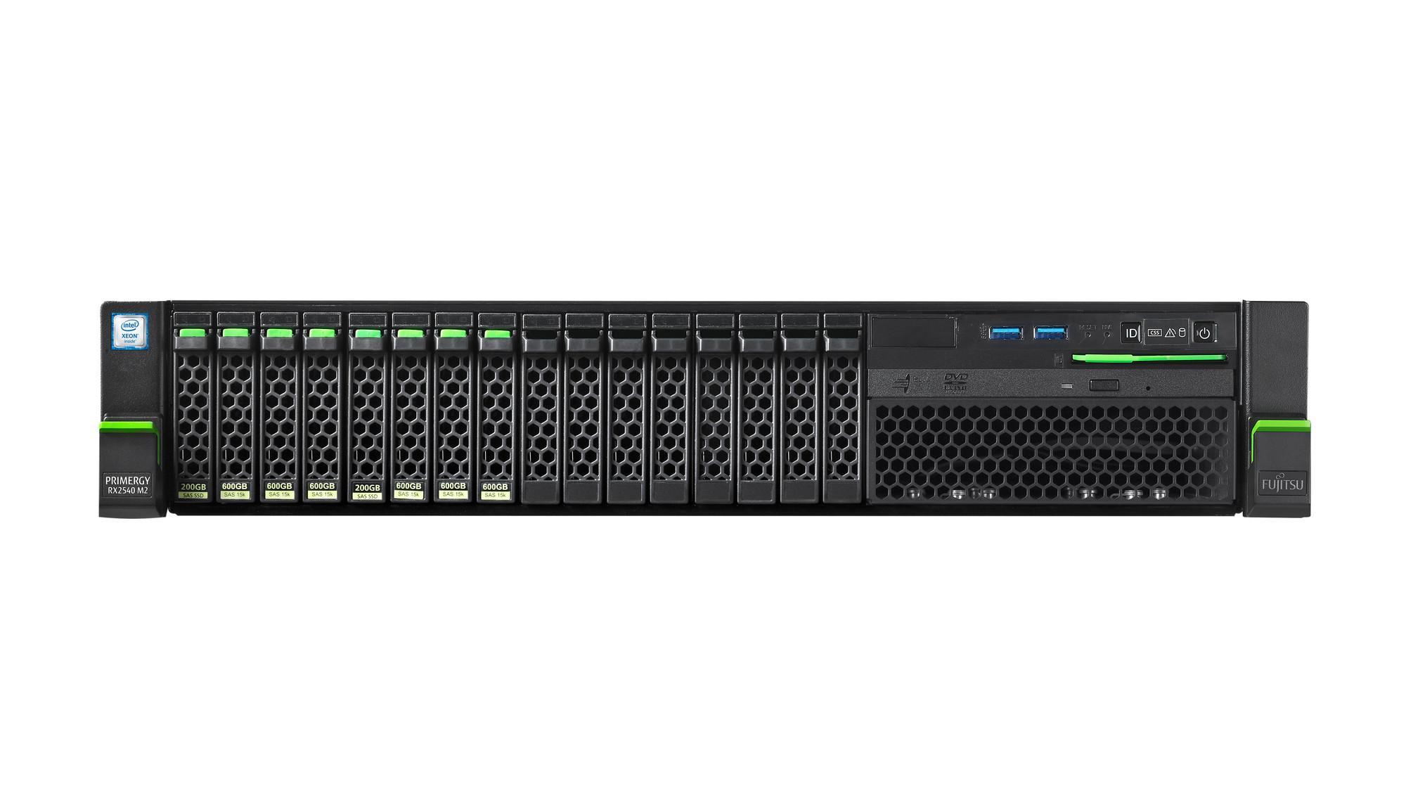 "Сървър Fujitsu Primergy RX2540M2 SFF Intel Xeon E5-2620v4/16GB/CF4 8X2.5""EXP/RAID12G 2GB/LAN4X1GB/PSU 800W"