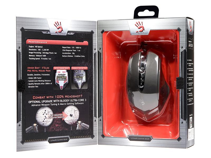 Геймърска мишка Bloody, V8M, Оптична, Жична, USB