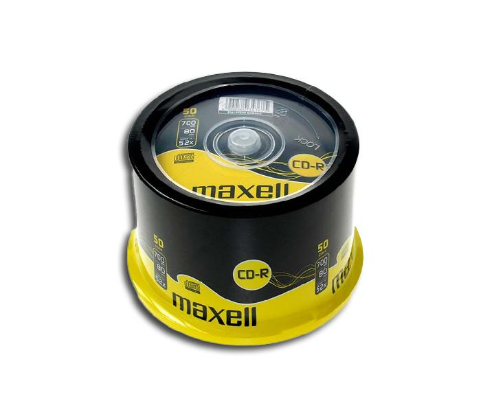 CD-R80 MAXELL cake box wrapped, 700MB, 52x, 50 бр
