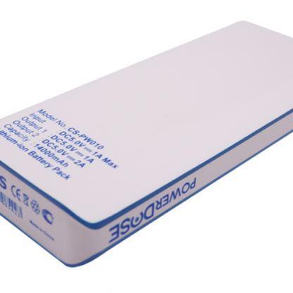 Външна батерия Cameron Sino PW010, 14000mAh, 1.0 A / 2.1A, Бял