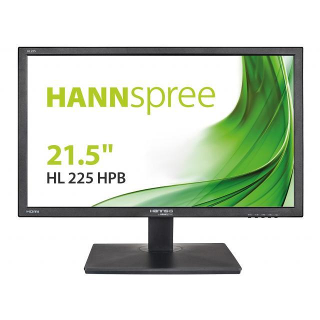Монитор HANNSPREE HL225HPB, LED, 21.5 inch, Wide, Full HD, D-Sub,HDMI, Черен