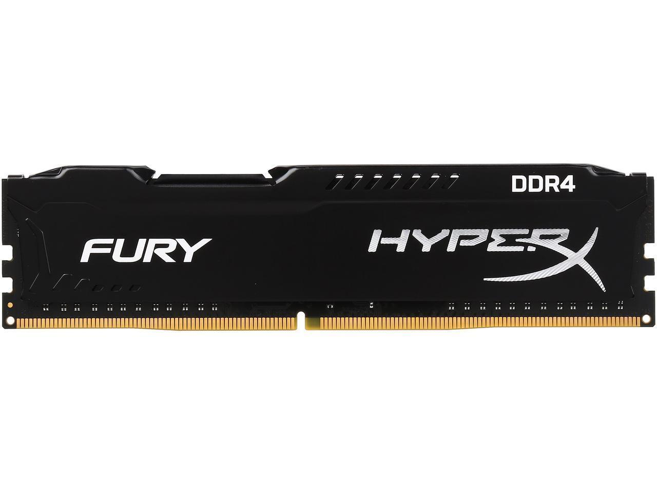 Памет Kingston HyperX Fury 4GB DDR4 PC4-19200 2400Mhz CL15 HX424C15FB/4