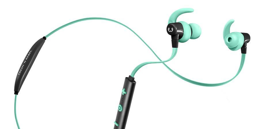 Слушалки Fresh & Rebel Lace Wireless Sports Earbuds, Peppermint