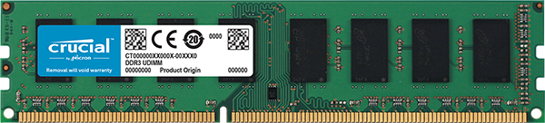 Памет  Crucial 4GB DDR3 PC3-12800 Dual Voltage 1.35V/1.5V CT51264BD160BJ