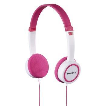 Слушалки Thomson HED1105P, Бял / Розов