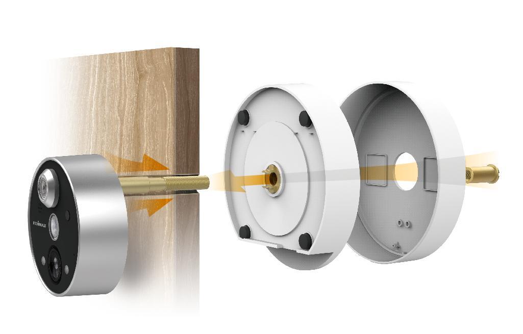 Камера за наблюдение Edimax IC-6220DC за шпионка на врата, безжична, нощно виждане, двупосочно аудио