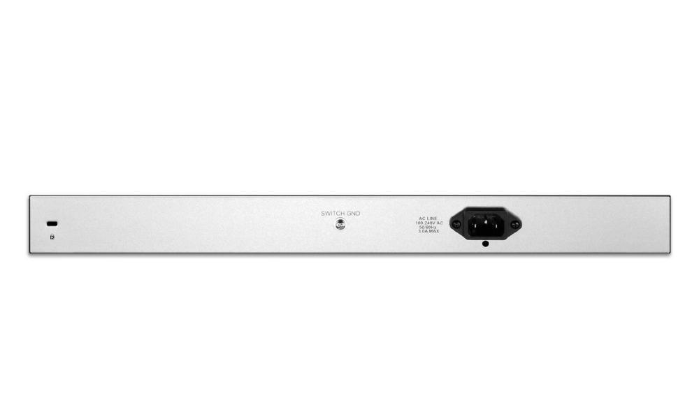 Суич D-Link 24 PoE 10/100/1000 Base-T port with 4 x 1000Base-T /SFP ports, управляем, за монтаж в шкаф