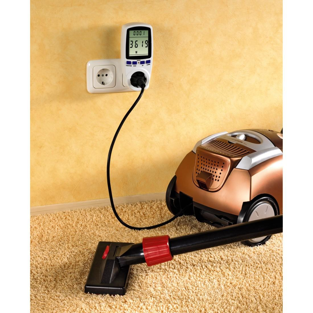 Уред за измерване на напрежение, разхода на ток и консумирана мощност HAMA Premium 47770, Бял