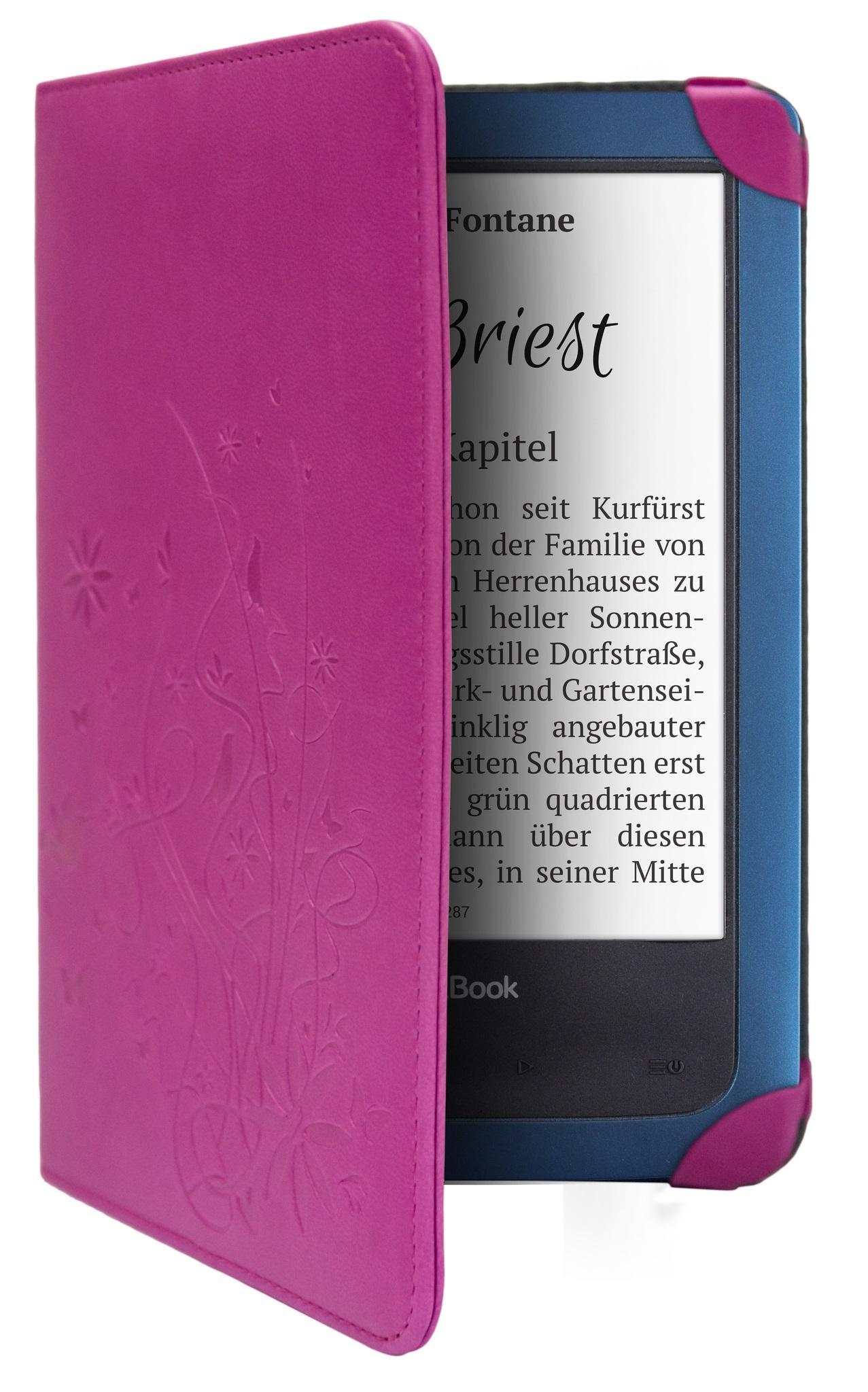 """Калъф Pocketbook Cover Breeze, за ел.книга/ четец/ Aqua 640, 6"""", Виолетов"""