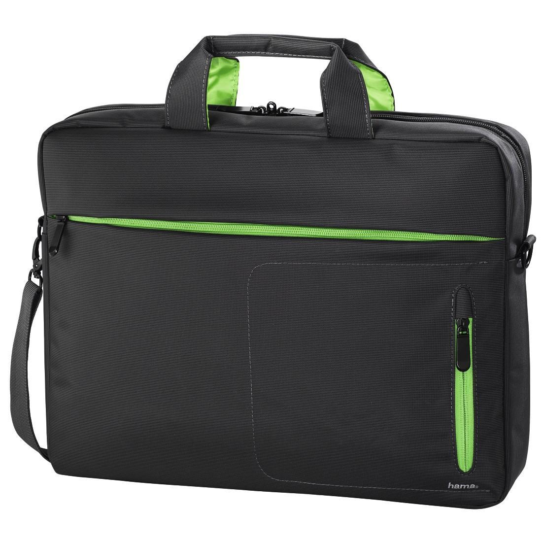 """Чанта за лаптоп HAMA Marseille Style 101284, 15.6"""", Сив/Зелен"""