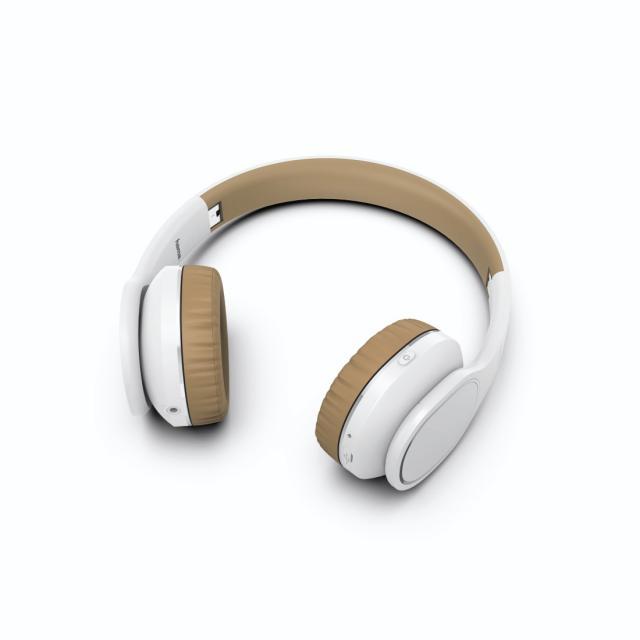 Стерео слушалки HAMA Touch, Bluetooth, Микрофон, On-Ear, Stereo, бял/бежов