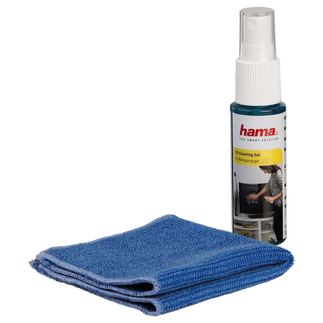 Почистващ гел HAMA за LCD, TV, TFT  телевизори и монитори  45мл/+поч.,кърпа 20х20см