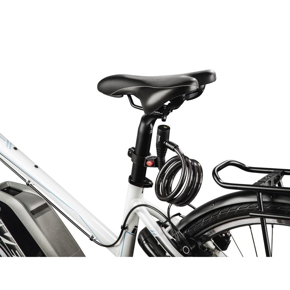 Заключващо устройство за велосипед HAMA 178110, Спирала, 120 см, Черен