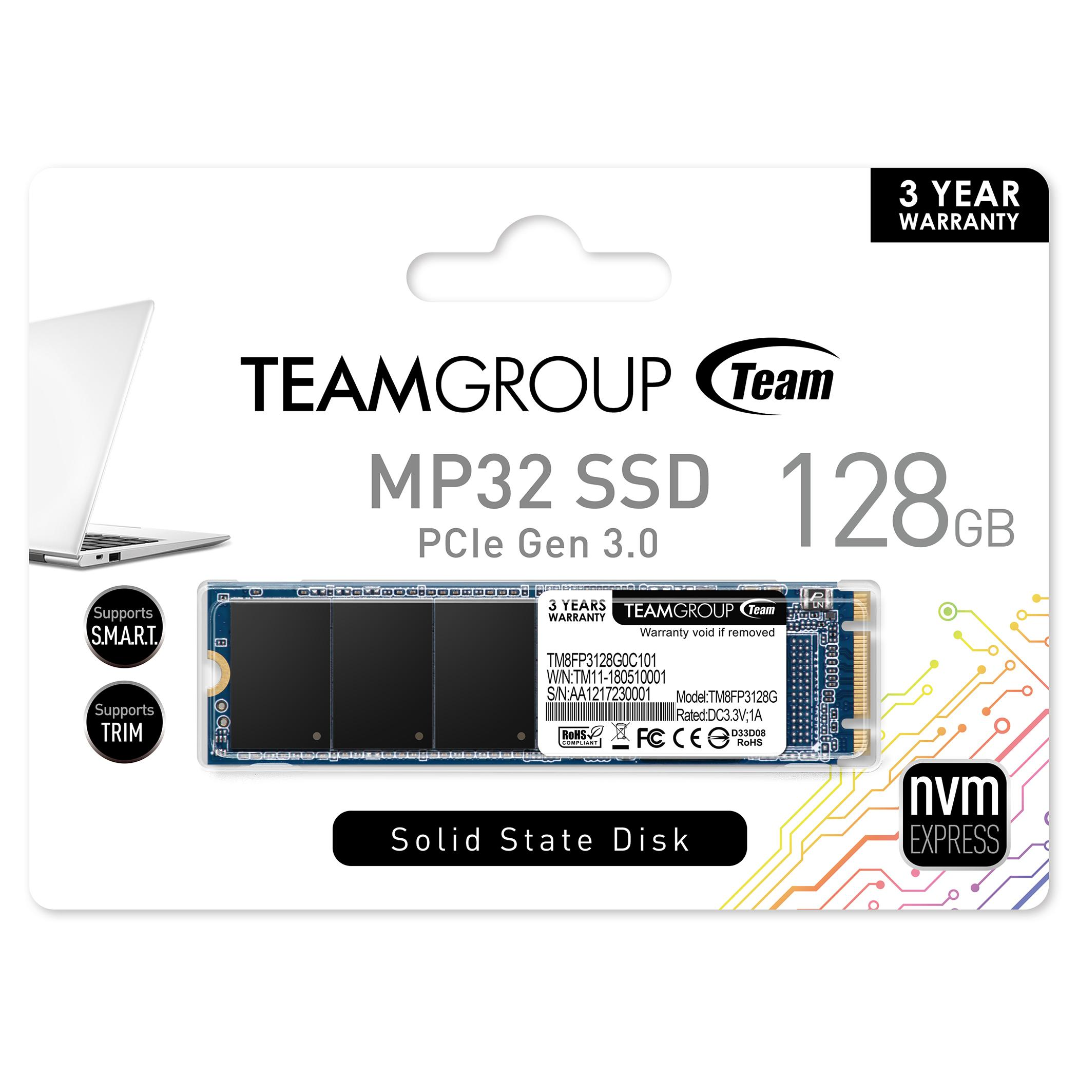 Solid State Drive (SSD) Team Group MP32 M.2 2280 128GB PCI-e 3.0 x2 NVMe