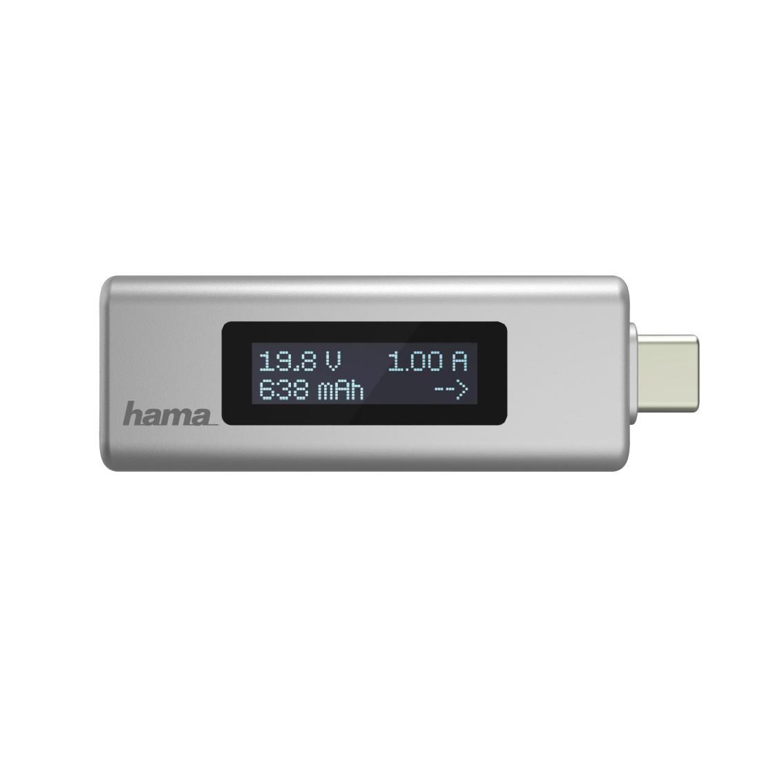 USB-C индикатор с дисплей HAMA 54178, за напрежение ток и ниво на зареждане