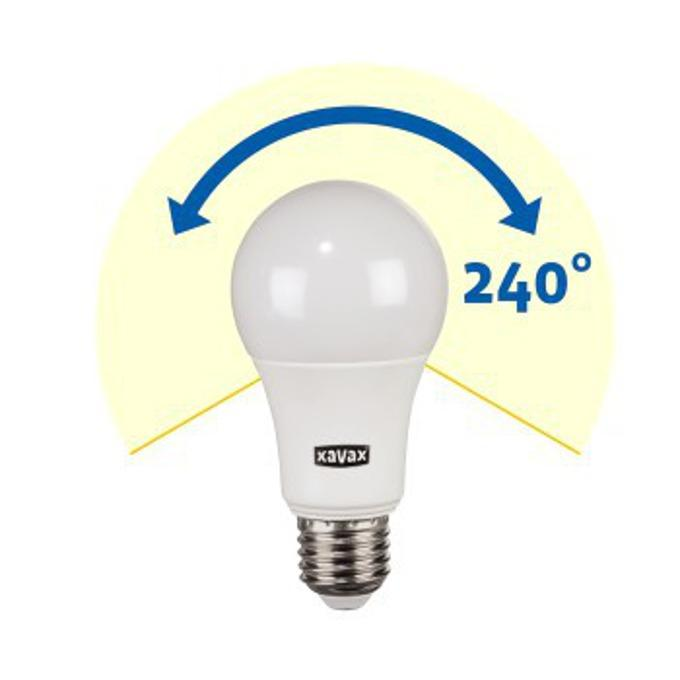 LED крушка XAVAX 112198, 9.2W, E27, A 60. 2700K, bulb