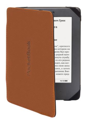 Калъф POCKETBOOK за eBook четец PB 515, 5 inch, Кафяво/Черен