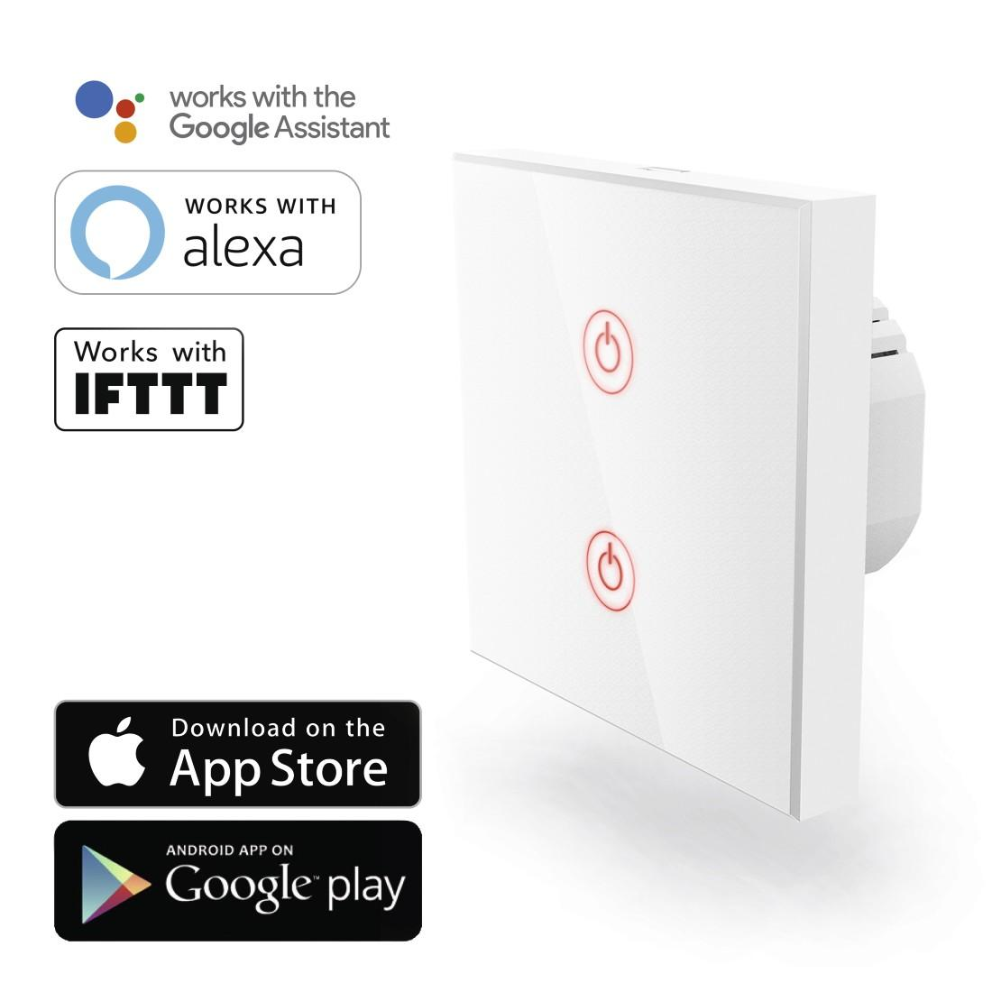 Wi-Fi ключ за стена HAMA 176551, Amazon Alexa, Google Home, Бял
