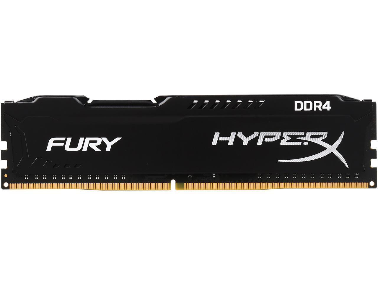 Памет Kingston HyperX Fury 4GB DDR4 PC4-21300 2666Mhz CL15 HX426C15FB/4