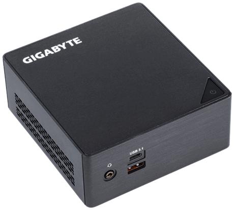 Настолен мини компютър Gigabyte Brix BKi5HA-7200, Intel® Core™ i5-7200U, 2 x SO-DIMM DDR4, M.2 SSD,HDD/SSD,USB Type-C™, WF+BT, черен