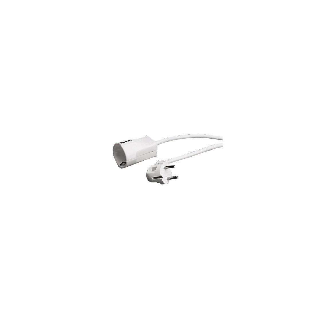 Удължителен захранващ кабел HAMA 110863, Euro Plug, 5 m, Бял