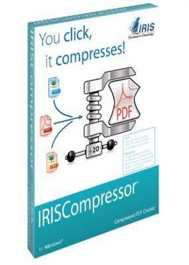 Софтуер iris IRISCompressor Win за компресиране от JPEG/PNG/TIFF/PDF в PDF файл