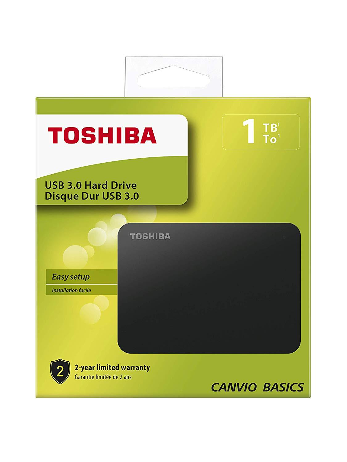 "Външен хард диск Toshiba Canvio Basics, 1TB, 2.5"" HDD, USB 3.0"