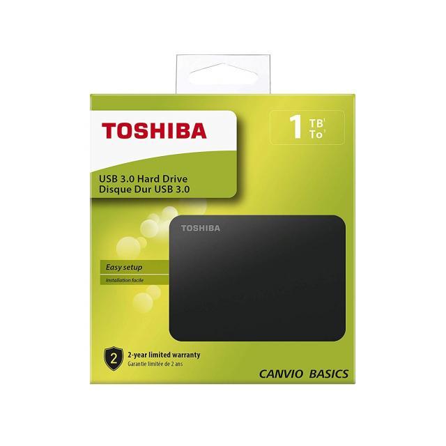 """Външен хард диск Toshiba Canvio Basics, 1TB, 2.5"""" HDD, USB 3.0"""